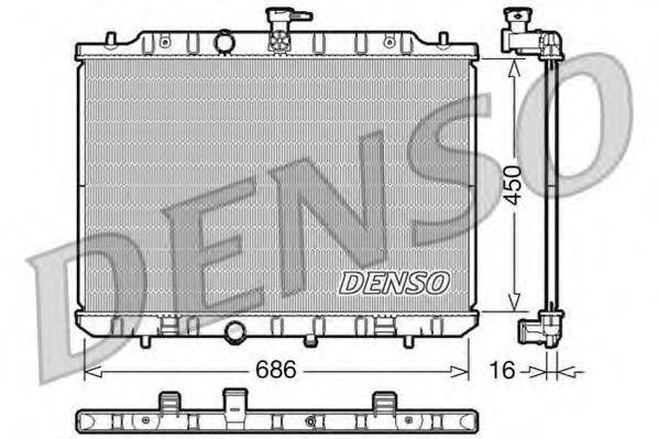 Радіатор охолоджування Denso DRM46009