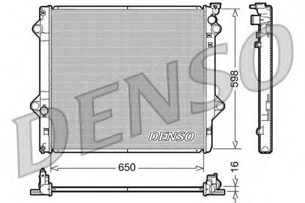 Радиатор, охлаждение двигателя Denso - DRM50048