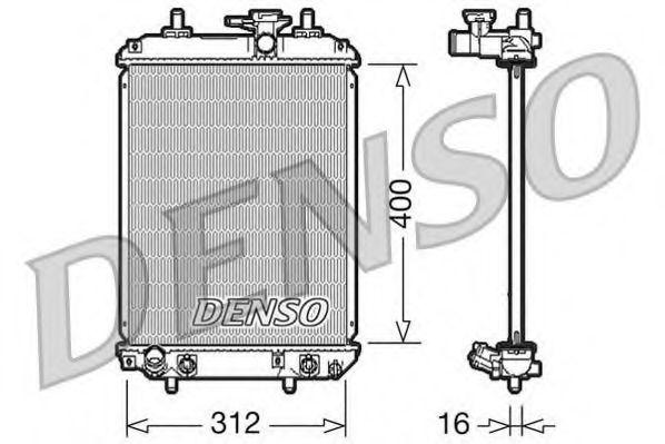 Радіатор охолоджування Denso DRM50050