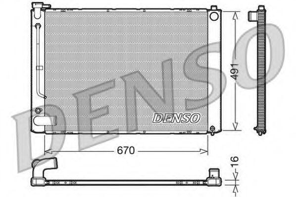 Радіатор охолоджування Denso DRM50055