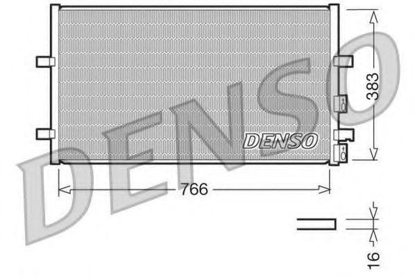 Радiатор кондицiонера Denso DCN10009