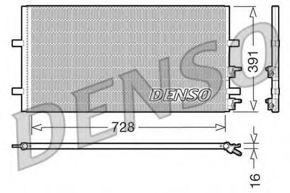Радiатор кондицiонера Denso DCN10017