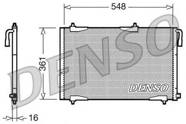 Радiатор кондицiонера Denso DCN21002