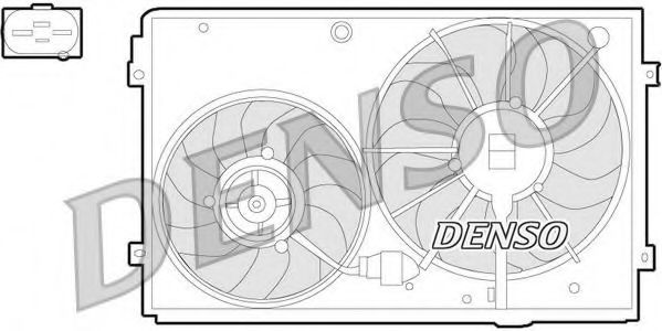 Вентилятор, охлаждение двигателя DENSO арт.