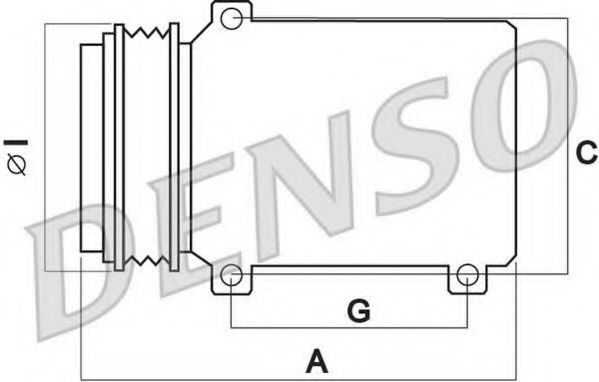 Компрессор, кондиционер Denso - DCP02036