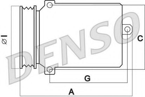 Оборудование для СТО Компрессор, кондиционер DENSO арт. DCP02064