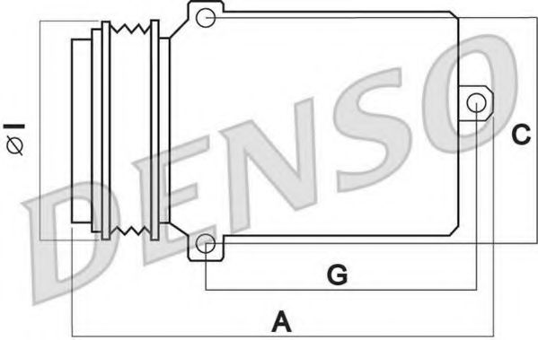 Оборудование для СТО Компрессор, кондиционер DENSO арт. DCP02004