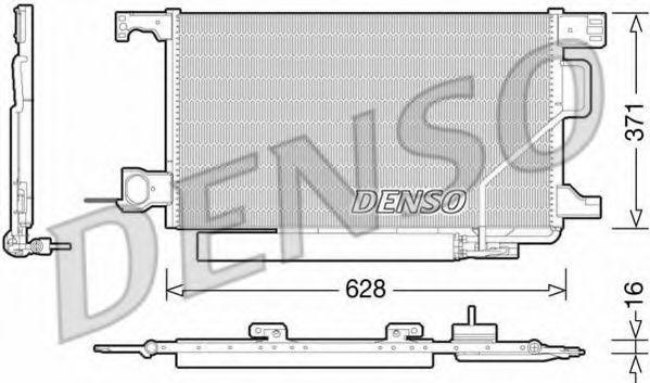 Конденсатор, кондиционер DENSO арт.