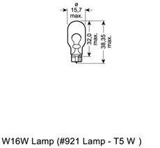 Лампа накаливания, фонарь указателя поворота OSRAM арт. 921