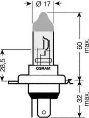 Лампа накаливания, фара дальнего света OSRAM арт. 64193ULT