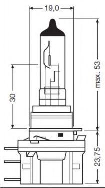 Трансмиссионные Лампа накаливания, фара дальнего света OSRAM арт. 64176