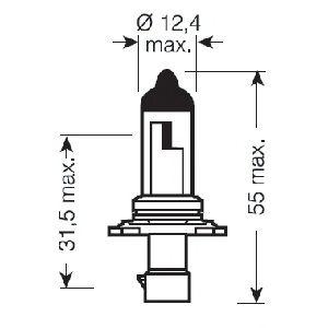 Лампа накаливания, фара дальнего света OSRAM арт. 9006XS