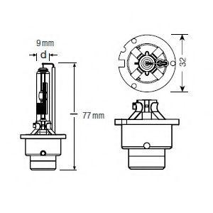 Лампа накаливания, фара дальнего света OSRAM арт. 66250