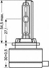 Лампа накаливания, фара дальнего света OSRAM арт. 66140XNB