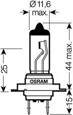 Автолампа галогенова 55W Osram 64210
