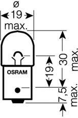 Лампа накаливания, фонарь указателя поворота OSRAM арт. 500802B
