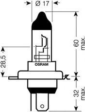 Лампа накаливания, фара дальнего света OSRAM арт. 64193