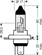 Лампа накаливания, фара дальнего света OSRAM арт. 64193CBI01B