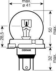 Трансмиссионные Лампа накаливания, фара дальнего света OSRAM арт. 64203
