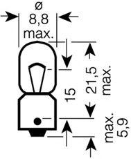 Лампа накаливания, фонарь указателя поворота OSRAM арт. 3893