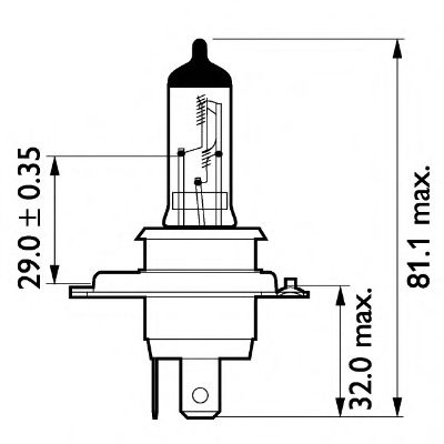 Трансмиссионные Лампа накаливания, фара дальнего света PHILIPS арт. 13342MDC1