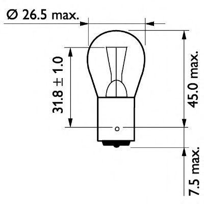 Трансмиссионные Лампа накаливания, фонарь указателя поворота PHILIPS арт. 13498CP