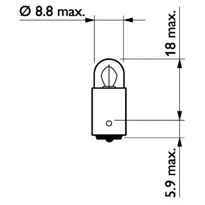 Лампа накаливания, фонарь установленный в двери PHILIPS арт. 13913CP