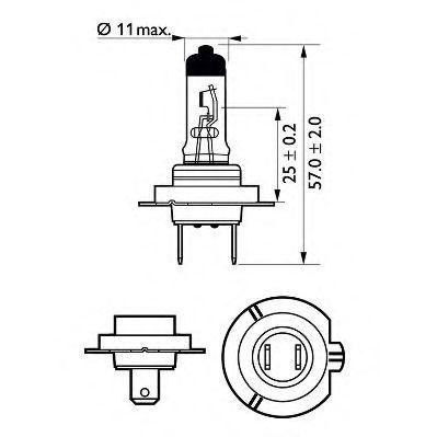 Лампа накаливания, фара дальнего света PHILIPS арт. 12972LLECOB1