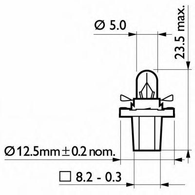 Лампа накаливания, освещение щитка приборов PHILIPS арт. 12638CP