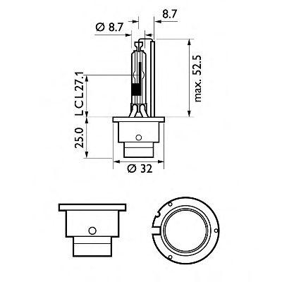 Лампа накаливания, фара дальнего света PHILIPS арт. 85126VIC1