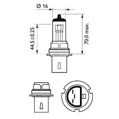 Лампа накаливания, фара дальнего света PHILIPS арт. 9004C1