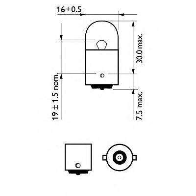 Лампа накаливания, фонарь указателя поворота PHILIPS арт. 12814B2