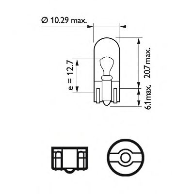 Лампа накаливания, фонарь указателя поворота PHILIPS арт. 12961LLECOCP