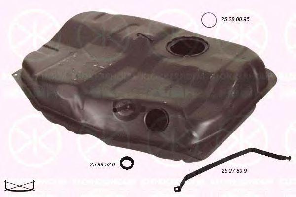 Топливный бак KLOKKERHOLM арт. 2528008