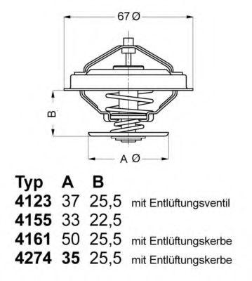 Термостат, охлаждающая жидкость WAHLER арт. 427482D