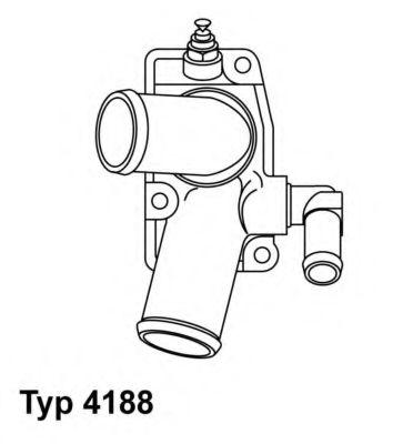Термостат, охлаждающая жидкость WAHLER арт. 418892D