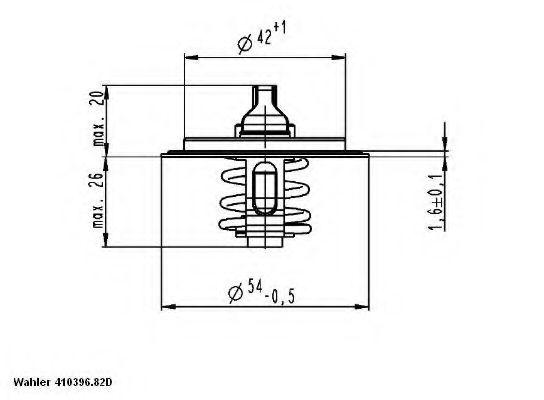 Термостат, охлаждающая жидкость WAHLER арт.