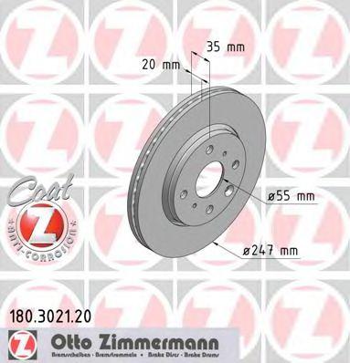 Диск гальмівний ZIMMERMANN 180302120