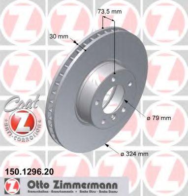 Диск гальмівний ZIMMERMANN 150129620