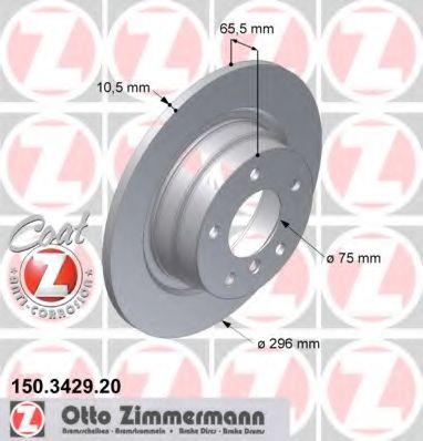 Диск гальмівний ZIMMERMANN 150342920