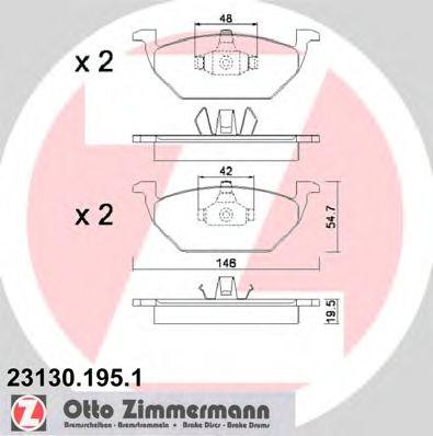 Колодки гальмівні дискові ZIMMERMANN 231301951