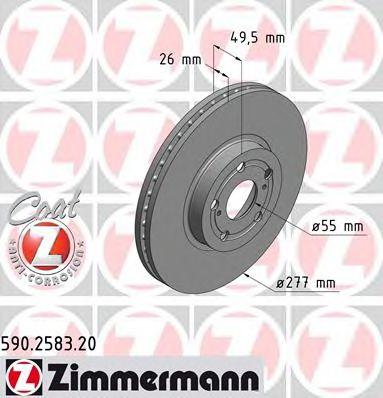 Диск гальмівний ZIMMERMANN 590258320