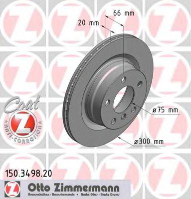 Диск гальмівний ZIMMERMANN 150349820