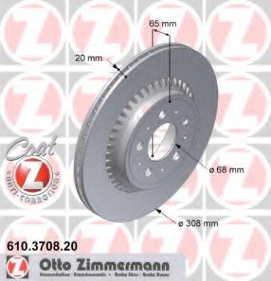 Диск гальмівний ZIMMERMANN 610370820