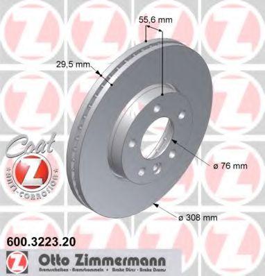 Диск гальмівний ZIMMERMANN 600322320