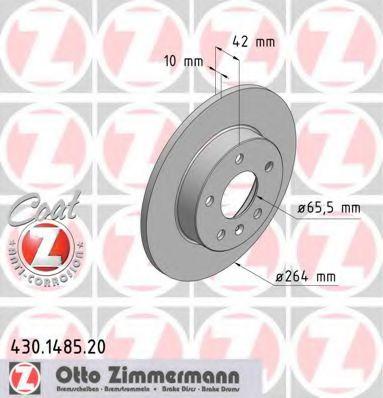 Диск гальмівний ZIMMERMANN 430148520