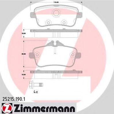 Колодки гальмівні дискові ZIMMERMANN 252151901