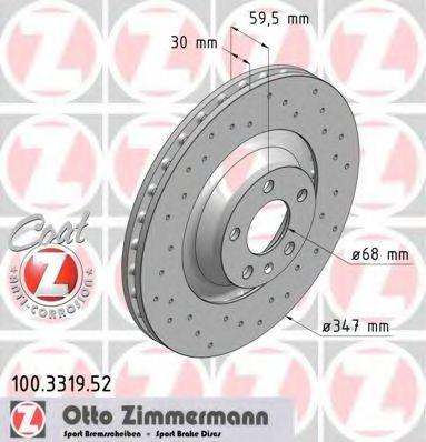 Тормозной диск ZIMMERMANN арт. 100331952
