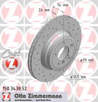 Диск гальмівний ZIMMERMANN 150343852