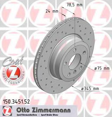 Диск гальмівний ZIMMERMANN 150345152